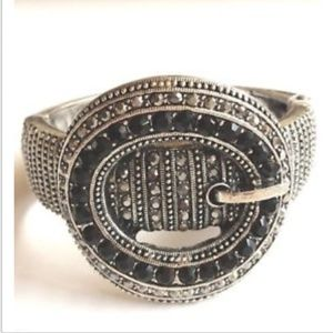 Silver Belt Buckle Bracelet Country Western